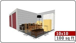 Illustration of 100 sq ft area