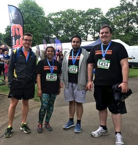 Housing team runs Windsor half Marathon 2017_with medals