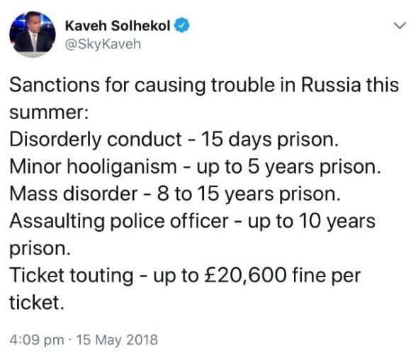 Tweet from Kaveh Solhekol_15.05.2018
