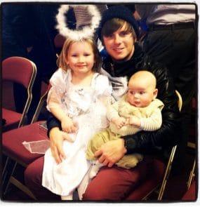 Aidan Knight with children