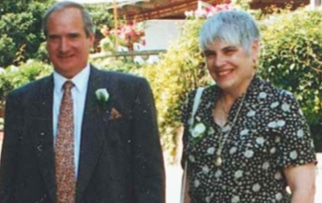 Alan Treece with his wife