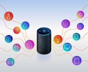 Smart speaker for smart home control.