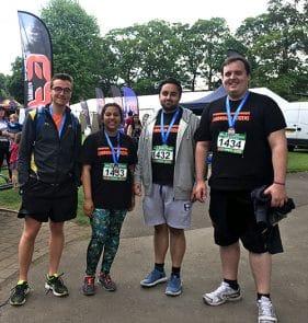 Housing team runs Windsor half Marathon 2017_with medals