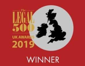 Legal 500 Winner 2019