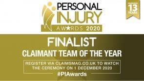 PI Awards 2020 FINALIST_CLAIMANT PI TEAM