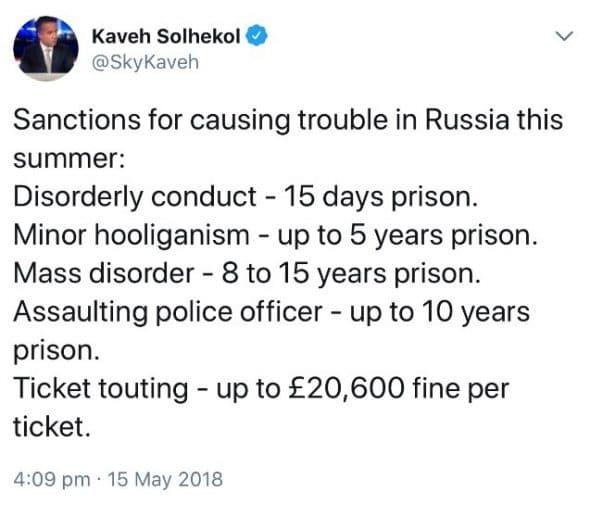 Tweet from Kaveh Solhekol_15.05.2018