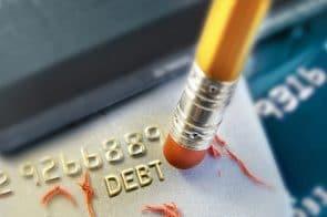 Debt written on credit card