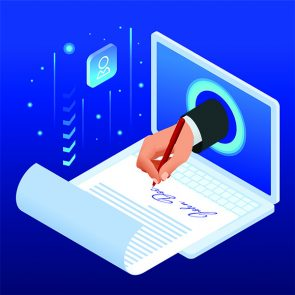 Electronic signature concept